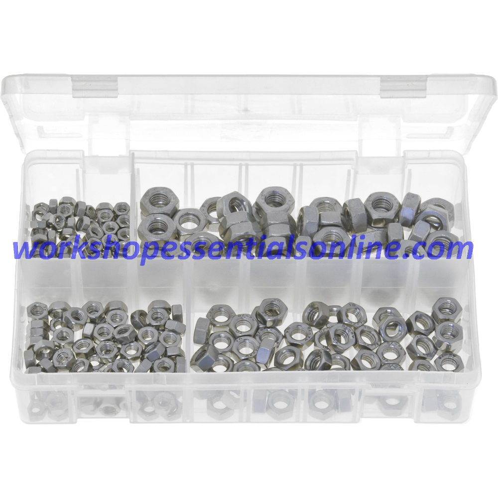 Metric Stainless Steel Nuts. Grade A2 250 Pieces AB155