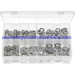 Metric Stainless Steel Flat Washers. 650 Pieces. AB157