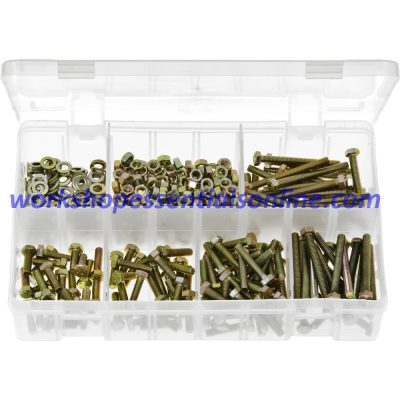 M5 Metric High Tensile Set Screws, Steel Nuts, Flat Washers AB163
