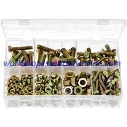 Metric Set Screws High Tensile and Nuts. 240 Pieces AB170