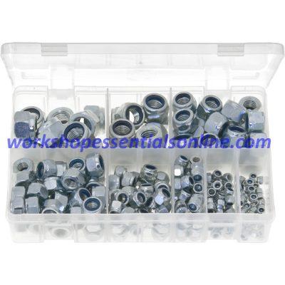 Metric Nylon Lock Nuts Sizes M4 to M16. 255 Pieces. AB201
