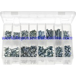 Metric Machine Screws Cheese Head & Countersunk, Slotted. 460 Pieces. AB209