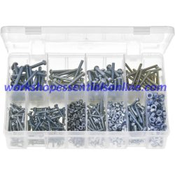 BA Machine Screws with Nuts, Round Head, Slotted. Zinc Plated Steel 1,025 Pieces AB3