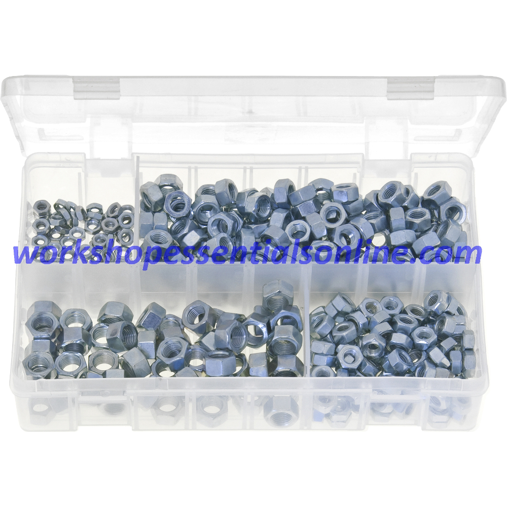 UNF Steel Nuts. 370 Pieces. AB6