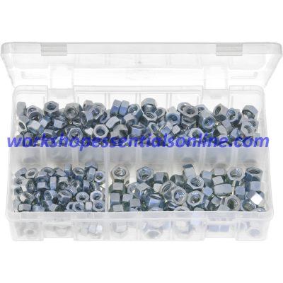 UNC Steel Nuts. 370 Pieces. AB8