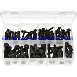 Metric Socket Screws Cap Head - Black. 100 Pieces AB92