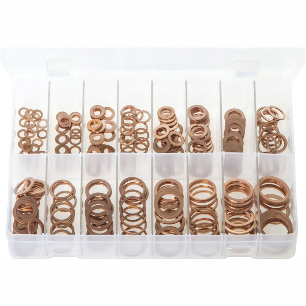 Metric Copper Sealing Washers. 250 Pieces. AB106
