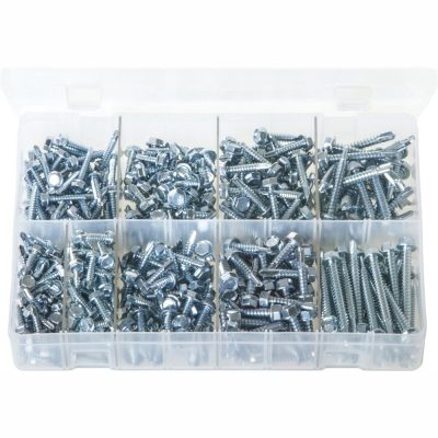 Hex Head Self-Drilling Screws. Zinc Plated. 400 Pieces. AB138