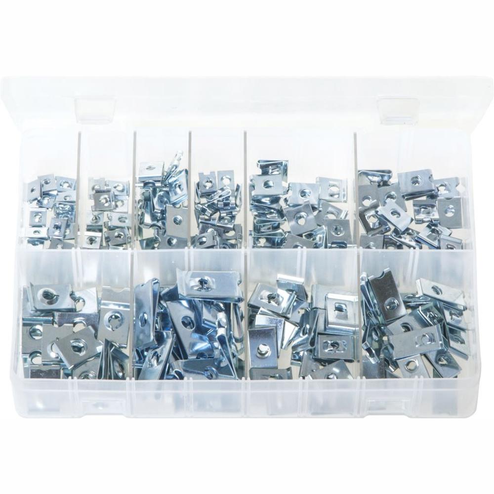 U-Nuts. Zinc Plated. 200 Pieces. AB166