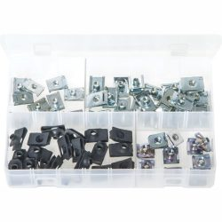 Chimney Nuts - Zinc and Black. 60 Pieces. AB167N