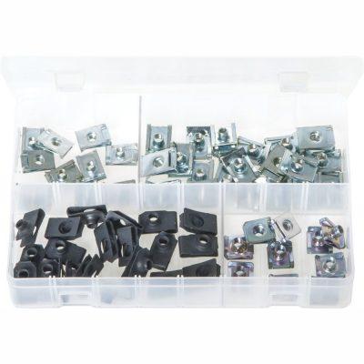 Chimney Nuts - Zinc and Black. 60 Pieces. AB167N