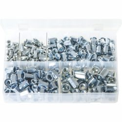 Metric Threaded Inserts - Cylindrical Head Full Hex. 250 Pieces AB181