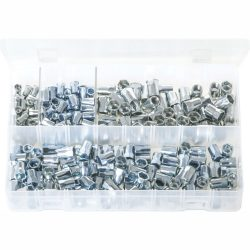 Metric Threaded Inserts - Half Hex. Zinc Plated 225 Pieces AB182