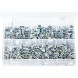 Metric Threaded Inserts - Splined. Zinc Plated 225 Pieces AB183