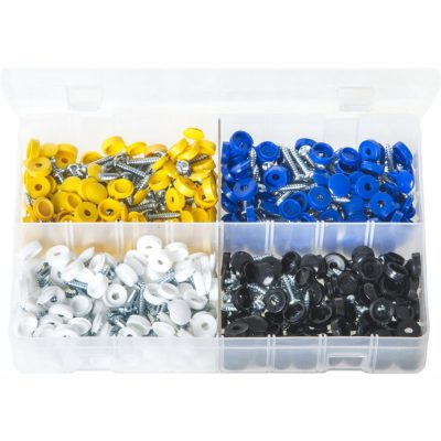 Security Number Plate Fasteners. Slotted One/Way Clutch Head Screws 200 Pieces AB222
