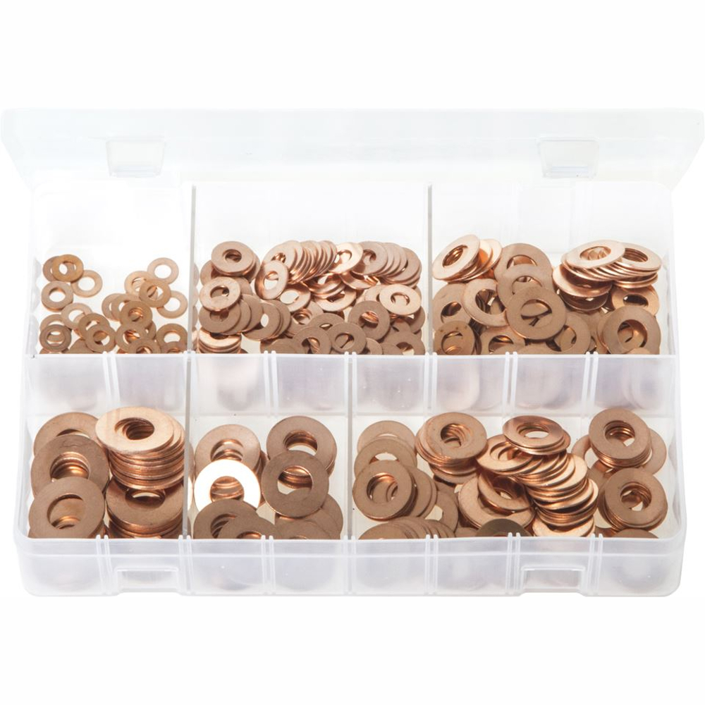 Imperial Copper Washers. 400 Pieces AB24N