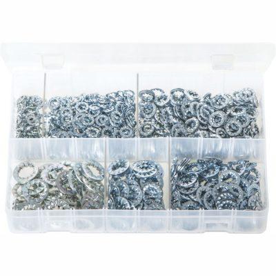 Metric Lock Washers Serrated - Internal. 800 Pieces AB27N