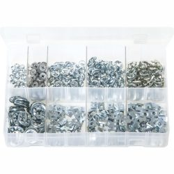 Flat Clips (Push-on Fixes). Zinc Plated. 1,000 Pieces. AB50