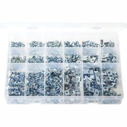 Spire Nut Clips WEO U Nuts Screw Size Speed Fasteners Captive Clips HUC1 No:6-3.5mm Pack of 100