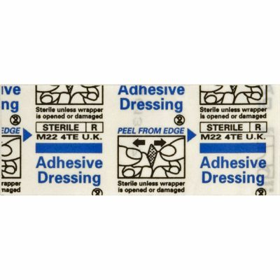 Adhesive Dressings (plasters) - Stretch Fabric & Wash-proof. 200 Pieces. AB36