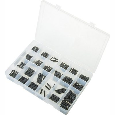 Spring Roll Pins - Metric. Black. 340 Pieces. Max Box AB555