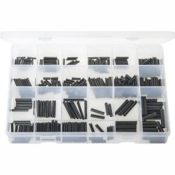 Spring Roll Pins - Metric. Black. 340 Pieces. Max Box AB555