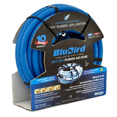 """Airline/Airhose 10mm Bore X 20metres 1/4""""BSP Female Ends 10 Year Warranty"""