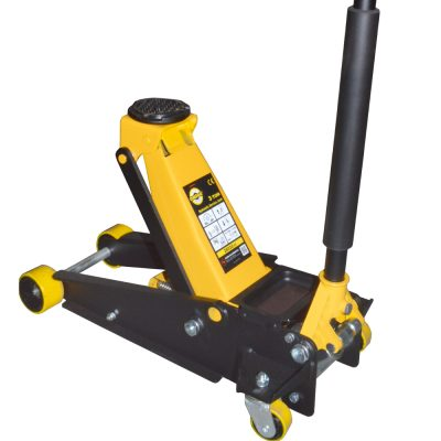 Trolley Jack 3 Ton with foam handle and double pistons. OM-2803001