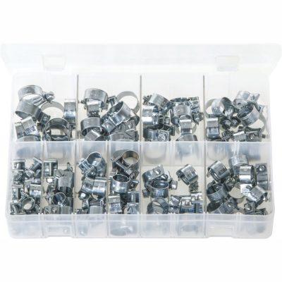 Mini Hose Clips. 10 Sizes. Box of 100 Pieces. AB102
