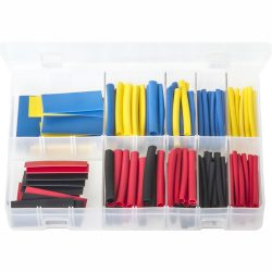 Heat Shrink Tubing - 50 mm Lengths. 2:1 Shrink Ratio. 172 Pieces. AB103
