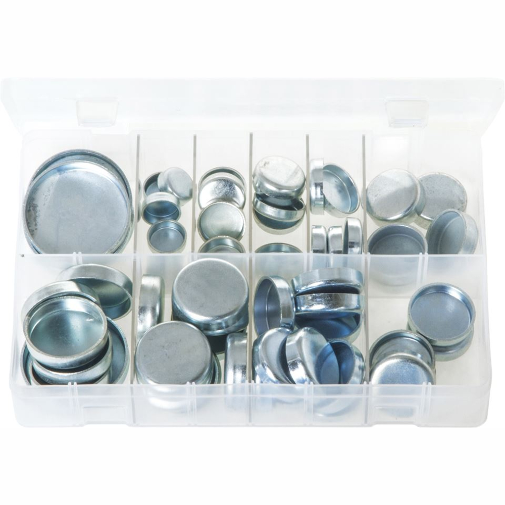 Core Plugs Cup Type - Metric. Zinc Plated Steel. 60 Pieces. AB120