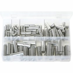 Copper Tube Butt Connectors. Assorted Box. 110 Pieces. AB123N