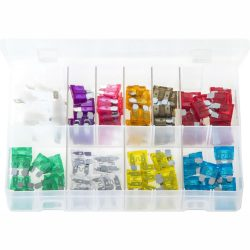 Blade Fuses - Standard with Fuse Holders. 105 Pieces. AB164
