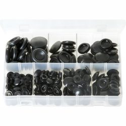 Grommets - Blanking. Black Rubber. 220 Pieces. AB191