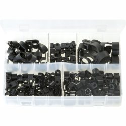 P-Clips. Black Nylon. Assorted. 160 Pieces. AB193