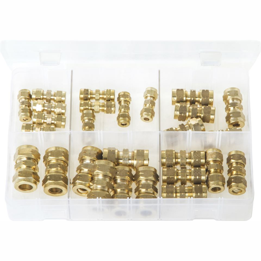 Brass Tube Couplings - Metric. Box of 27. AB95N