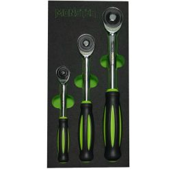 "Ratchet Set 1/4"", 3/8"" & 1/2"" with Twister Handle Monster MST102482"