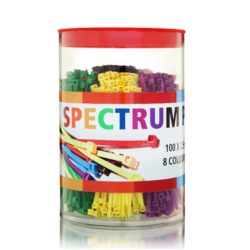 Cable Ties 100 x 2.5mm Spectrum Pack, 8 Colours, 800pcs Total. C10025SP