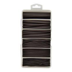 Heatshrink Kit, 3:1 Ratio. Black. Assorted Sizes. 87 Pieces. CHSK2