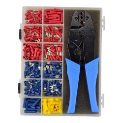 Crimp Kit with Ratchet Tool, 360 Pieces, Sturdy Case. CK1