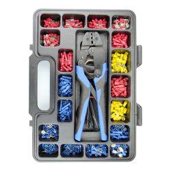 Crimp Kit, Terminals, Ergonomic Ratchet Crimper, PVC Tape 552 Pieces. CMXCK