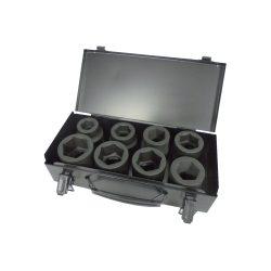 "1"" Drive Impact Socket Set 24-41mm Standard Length in Metal Case"