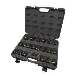 "3/4"" Drive Impact Socket Set 19-50mm Standard Length in Plastic Case"