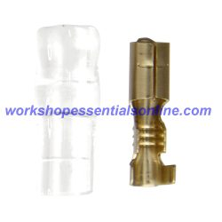 Non-Insulated Female Bullets Brass 4.0mm and Terminal Covers ET402