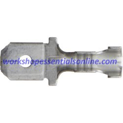 Non-Insulated Push-On Male Zinc Terminal. 6.3mm ET429