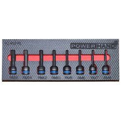 "1/2"" Ribe Impact Bit Socket Set. Supplied in EVA Foam KI-R12-1"