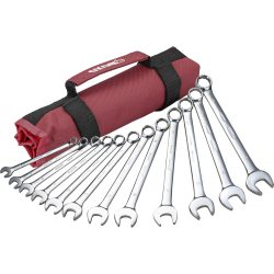 Combination Spanner Set 8 to 19mm in a canvas roll. BOXO PA400