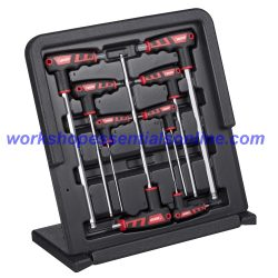 T-Handled Hex Key Set with Ball End 2-10mm In Plastic Case Boxo