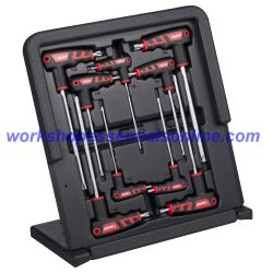 T-Handled Torx Key Set with T10-T50 In Plastic Stand Up Case Boxo
