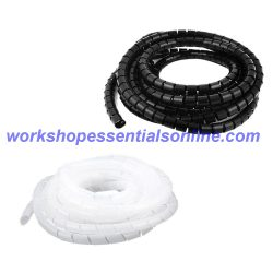 Spiral Wrap Cable Sleeving, Expandable, Black & Clear Wire Harness-Marine-Auto